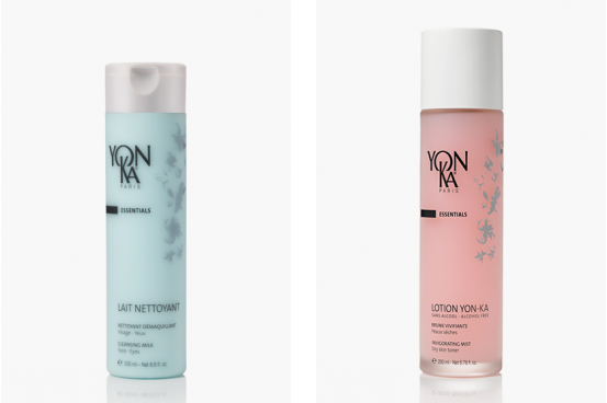 2 yonka produts. Yon-ka Lait Nettoyant £27  IN SALON. Yon-ka Lotion £29 IN SALON
